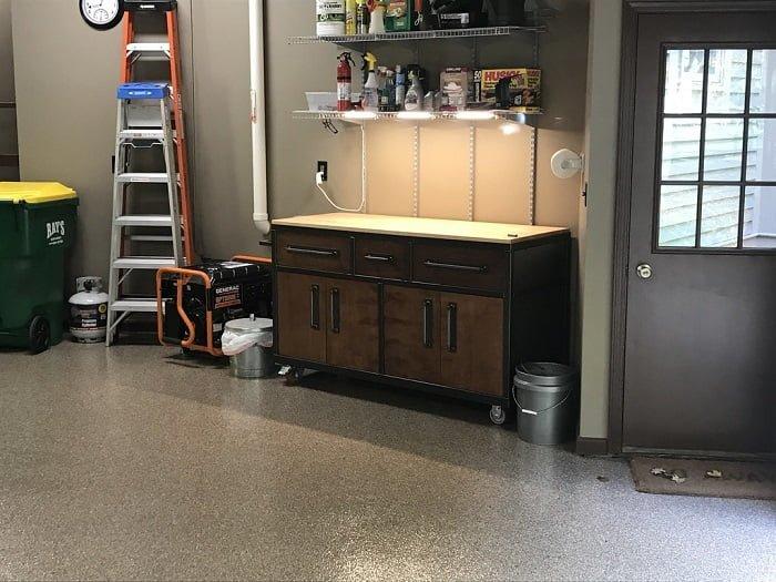 Workbench in Garage