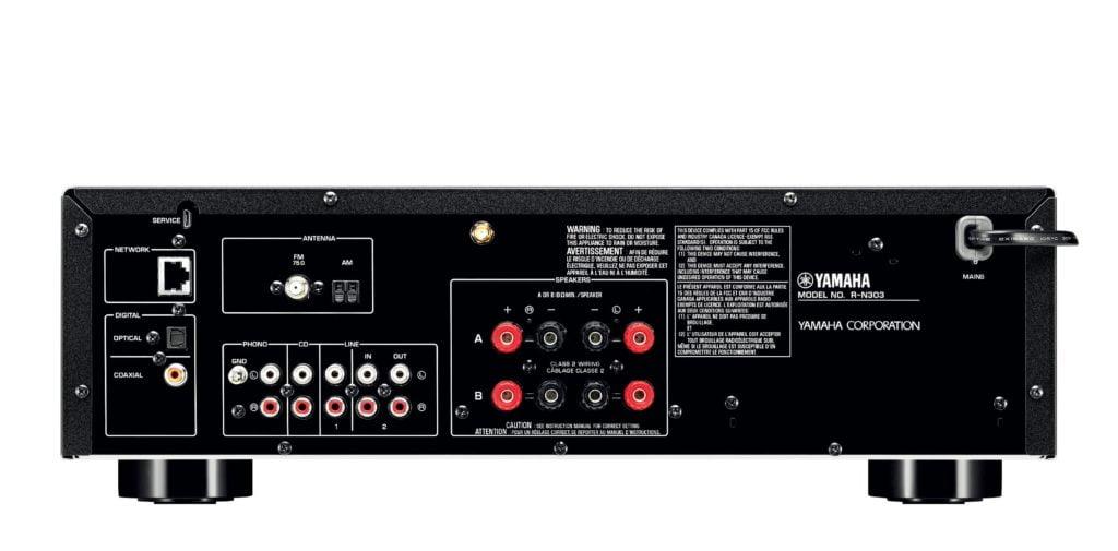 Yamaha R-N303BL Receiver Back