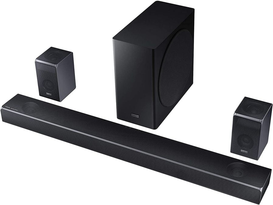Samsung Harman Kardon 7.1.4 Dolby Atmos Soundbar HW-Q90R with Wireless Subwoofer and Rear Speaker Kit